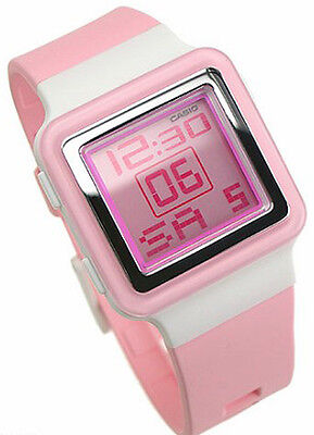 Casio LDF20-4A Ladies Pink Digital Led Sports Casual Watch Resin Band NEW