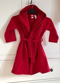 Red GAP dressing gown, 2-3yrs