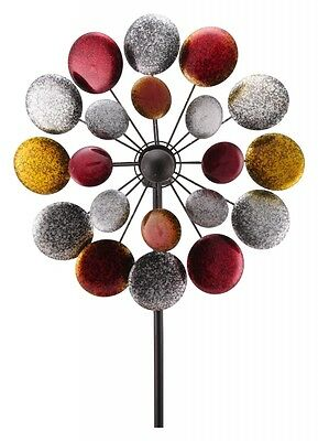 XXL Windrad Windspiel ArtFerro Rondo Ball Ibiza Gartenstecker Gartendeko Metall