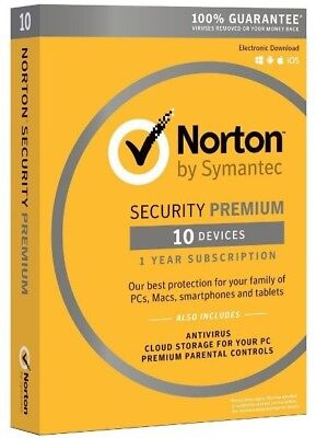 Norton Security Premium 3 0 Antivirus 10 Devices Pc Mac Phone Tablet 2017