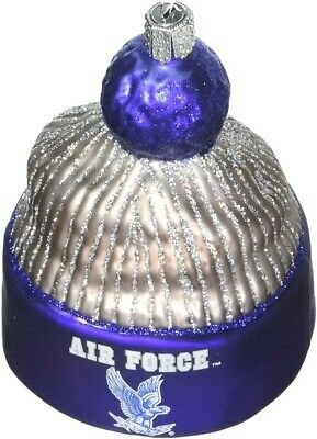 Old World Christmas 65014 Glass Blown Air Force Beanie Ornament