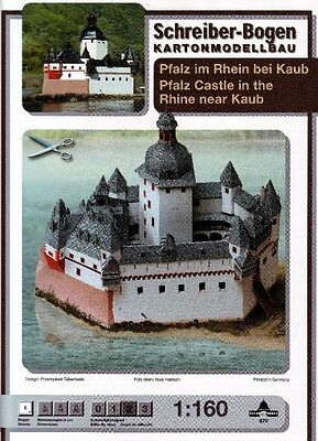Schreiber-Bogen Kartonmodellbau Pfalz im Rhein bei Kaub