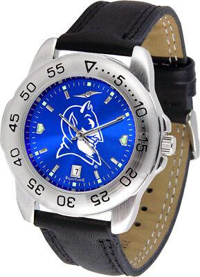 Devils Mens Sport Watch (Duke Blue Devils Men's Sport Anochrome Leather Watch )