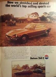 1975 Original Magazine Advertisements - Datsun 260Z Toyota Corona