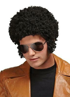BLACK SHORT AFRO TIGHT CURLY WIG WITH SIDEBURNS COSTUME DRESS MR176008](Halloween Costumes With Tight Black Dress)