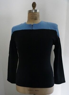 STAR TREK  Uniform Kostüm Voyager blau - Baumwolle- (Star Trek Voyager Kostüm)