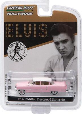 PInk 1955 Cadillac Fleetwood Series 60 Elvis GREENLIGHT DIECAST 1:64  ()