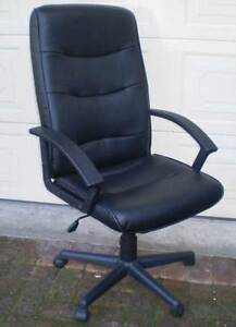 AS NEW BLACK HIGH BACK EXECUTIVE GAS LIFT OFFICE CHAIR Gnangara Wanneroo Area Preview