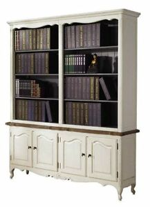 French Provincial Cau Vintage Display Bookcase