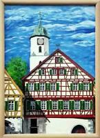 Bild-Uhr,  Bilduhren,  Bild + Uhr (ich fertige auch Aufträge an) Baden-Württemberg - Heroldstatt Vorschau