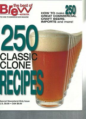 $16.95 - Brew Your Own - 250 Classic Clone Recipes Homebrewing Book Beer Making Recipes