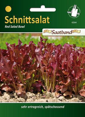 Pflücksalat 'Red Salad Bowl' - Lactuta sativa, Salat Samen, Saatband, 42044 Red Salad Bowl