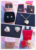 JuicyCouture STUD EARRINGs / NECKLACE $35 with gift plush