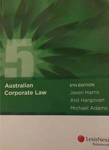 Australian Corporate Law 5th Edition Hornsby Hornsby Area Preview
