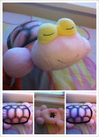PINK Music & Star Turtle /// Pink pink seahorse stuffed animal