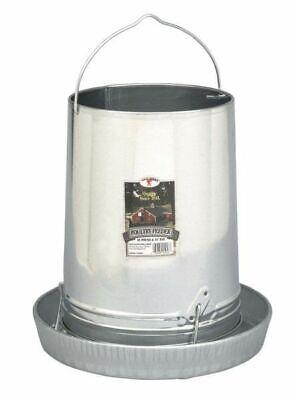 Poultry Chicken 30 Pound Tube Hanging Feeder Space Saver Galvanized Steel
