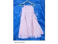 Lovely dress for a girl 7-8 years