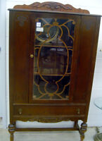 Vintage Wooden China Cabinet