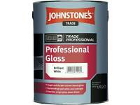 Johnstones White (mixed to light grey).. 5 litres 1 day old. Have receipt.