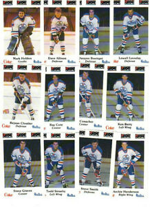 1984-85 NOVA SCOTIA OILERS hockey cards ... complete 26 card set City of Halifax Halifax image 2