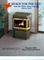 GAS FIRE FREE STANDING DIRECT VENT