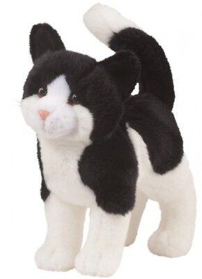 Cuddle Toys Katze Scooter stehend Plüschtier Katze schwarz-weiß Stofftier Kater