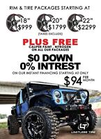WHEELS & TIRES IN STOCK! UNBEATABLE PRICES FINANCING 0%INTEREST