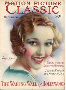 RARE MOTION PICTURE CLASSIC, vol. 30 #4, December, 1929