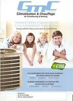 Thermopompe chauffage GMC