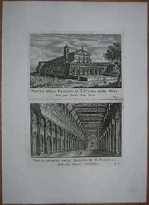 1795 print ROME: BASILICA OF SAINT PAUL OUTSIDE THE WALLS (Basilica Of Saint Paul Outside The Walls Rome)