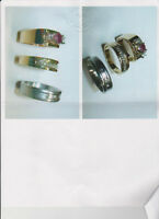 REDUCED - Mens Diamond Wedding Bands & Ladies Ruby/Diamond Ring