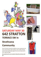 Strathcona Community Garage SaLe May 30 8:00 am to 3 pm