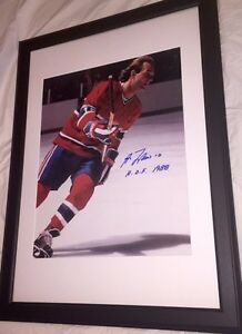 Guy Lafleur Autographed Montreal Canadiens 16x20 Framed