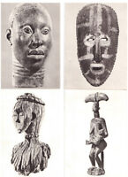 CARTES POSTALES , SCULPTURES  AFRICAINES .