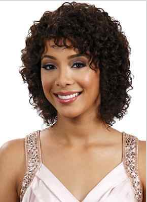 MIDWAY BOBBI BOSS MH 1228 WILMA 100% HUMAN HAIR WIG CURLY STYLE HUMAN HAIR WIG