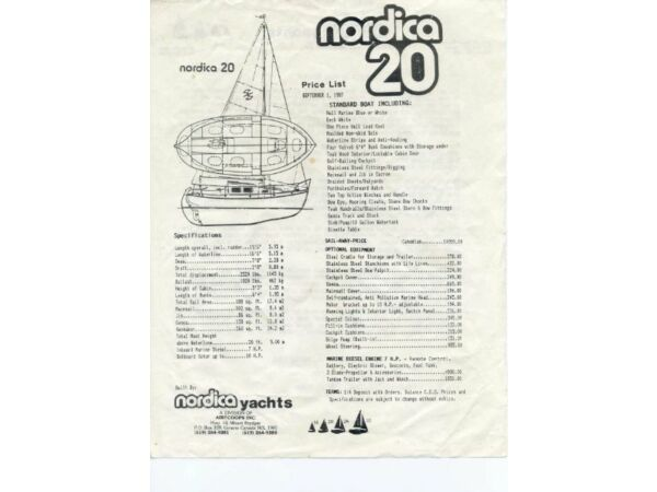 Used 1978 Other Nordica 20 with 6.6 hp Viking