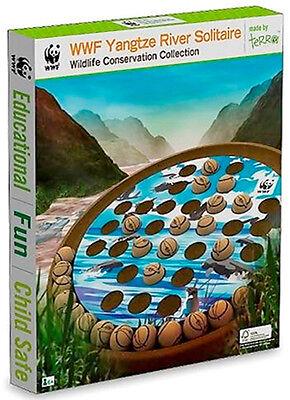 New In Box  World Wildlife Fund Wwf Wooden Yangtze River Solitaire