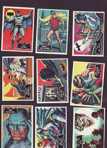 1966 TOPPS BATMAN BLACK BAT SET 55/55