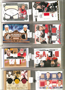 High end Hockey Jersey and autoraphed cards....