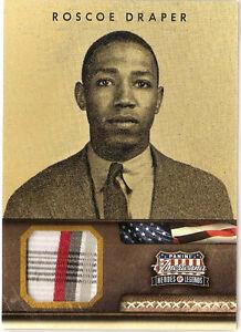 2012 Panini Americana Heroes & Legends Materials Roscoe Draper