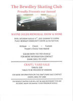Wayne Oulds Memorial Show & Shine plus Craft/Yard Sale