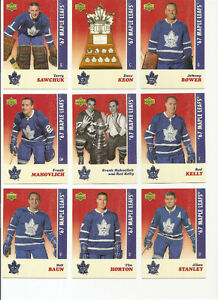 Toronto Maple Leafs Stanley Cup Team Set **LIMITED TO 10,000 **