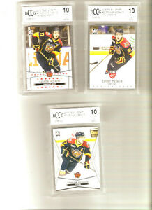 Connor Mcdavid OHL draft rookie card lot...All BCCG mint 10s