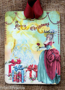 Hang Tags MARIE ANTOINETTE CHRISTMAS TAGS or MAGNET #275 Gift Tags