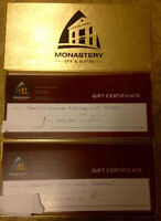 Facial,Manicure & Pedicure for Monastery Spa Cert!!Save $100!