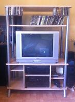 Meuble de télévision aussi pour système de son et console de jeu