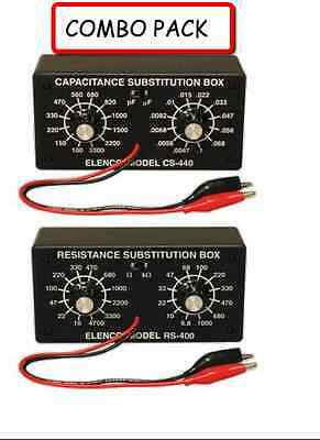 Elenco K-37k-38 Resistor Capacitor Substitution Box Solder Kit Combo Pack