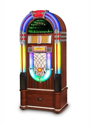 Crosley Digital LED Bluetooth Full Size Jukebox CD Radio AND Matching Stand NEW