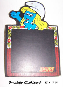 Delightful greetings from vintage, Smurfette Blackboard