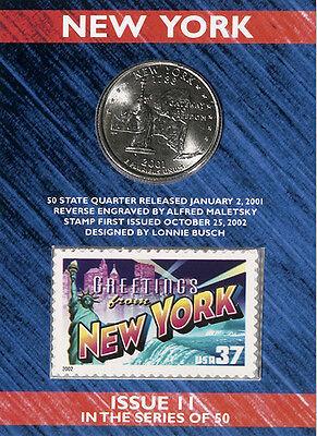 USPS NEW YORK STATE QUARTER AND STAMP SET